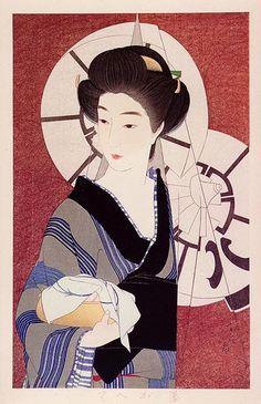 After the Bath, 1933 Torii Kotondo - Style - Shin-hanga