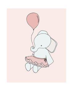 Elephant Ballerina Elephant Nursery Art by SweetMelodyDesigns, $15.00 Ballerina Nursery, Girl Nursery, Nursery Decor, Nursery Ideas, Elephant Nursery Art, Elephant Love, Cute Animal Drawings, Cute Drawings, Baby Art