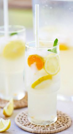 Coconut Water Lemonade – amazing and refreshing lemonade made with coconut water and fresh lemon juice. The best lemonade recipe ever! | rasamalaysia.com