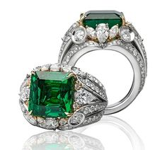 Platinum Emerald and Diamond Ring - Jack Abraham - The Precious Collection - Product Search - JCK Marketplace