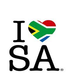 I LOVE SOUTH AFRICA Art Print
