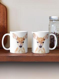 """Little Deer"" Mug by AmyHamilton | Redbubble Framed Prints, Canvas Prints, Art Prints, Space Leggings, Woodland Animals, Glossier Stickers, Ipad Case, Art Boards, Deer"