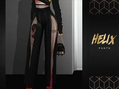 The Sims 4 SlayClassy - Helix Pants Sims 4 Mods Clothes, Sims 4 Clothing, Sims 4 Cas, Sims Cc, Sims 4 Black Hair, Sims 4 Game Mods, Sims 4 Cc Packs, Sims 4 Dresses, Sims Four