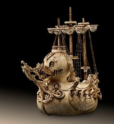 Ivory style ducky pirate ship   OMG. I need this.