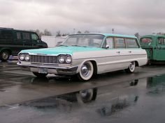 64 Chevy Impala wagon -love the window frame treatment