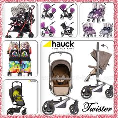 Prams and pushchairs in store