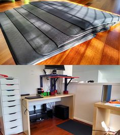 The Best Standing-Desk Mat | A standing-desk mat helps you stand longer at your desk by relieving pressure on your heels, back, and feet. The most supportive and comfortable mat we've found is the Imprint CumulusPRO. Four Wirecutter editors chose it from among our top picks after considering dozens of models. The CumulusPRO is made of a single, durable piece of 24-by-36-inch polyurethane and won't release odorous and toxic fumes.