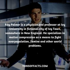 Ray Palmer is a physicist and professor at Ivy University in fictional city of Ivy Town, somewhere in New England. She specializes in matter compression as a means to fight overpopulation, famine and other world problems. Ivy University, Ray Palmer, Superhero Facts, World Problems, Physicist, Super Heros, Robins, Interesting Facts, Justice League