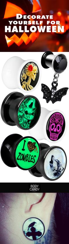Plug your holes with something spooky! www.BodyCandy.com