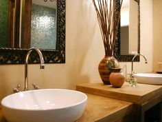 Vessel sink bathroom faucets can be mounted on either walls or countertops.