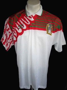 L vtg 1994 UMBRO MEXICO SOCCER JERSEY SPORT USA SHIRT ABA CAMISA FUTBOL  NACIONAL a649536065986