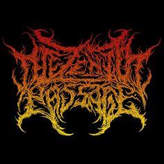 The Zenith Passage (revamp) - Maxwell Aston Art Metal Font, Horror Font, Extreme Metal, Typo Logo, Grunge Art, Band Logos, Death Metal, Art Logo, Metal Bands