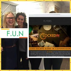 Playing #LiveEscapeGame @ www.clockedin.dk adds the real fun factor to make your day more pleasant with #friends & #family. #Game #Fun