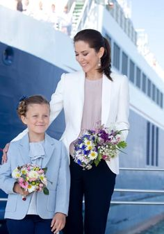 Princess Isabella of Denmark and her mother Crown Princess Mary of Denmark visited the Island of Samso on June 6, 2015 in Samso, Denmark.