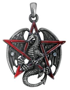 Gothic Red Pentagram Star Dragon Pendant Necklace Jewelry Accessory - $22.99 (SAVE 41%)  http://astore.amazon.com/lucysjewels-20/detail/B0043C147E