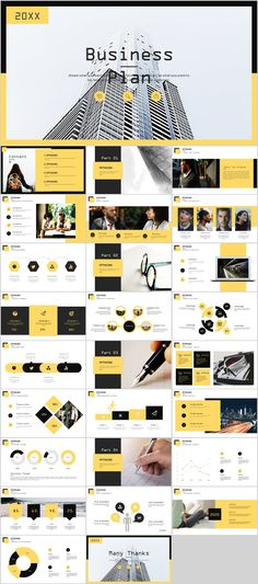 27+ yellow business plan report PowerPoint Template on Behance
