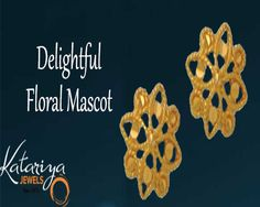Shop This Enchanting Floral Plain Gold Earring COD Option Available with Free Shipping in India