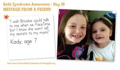 Rett Syndrome affects everyone in my daughter's life!