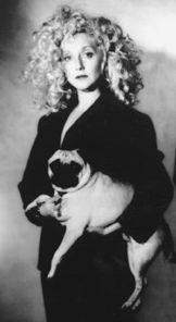 Carol Kane and her pet pug. #pugs
