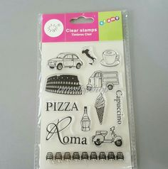♛ Shop8 : PIZZA CAPUCCINO CLEAR STAMP Arts & Craft Scrapbooking | eBay Pizza Roma, Clear Stamps, Arts And Crafts, Scrapbooking, Ebay, Door Bells, Art And Craft, Scrapbooks, Memory Books