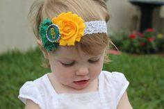 #Baylor University headband for baby girl on Etsy -- $10