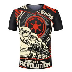 Star Wars Support The Revolution T-Shirt - free shipping worldwide