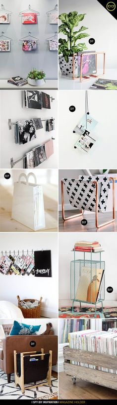 With magazines piling up at my apartment, I started searching online for a rack to hold them. I love, love, love the copper and print rack, so made my own version. Before we get to the DIY, I had to s