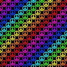 Patterns Kid Rainbow Peace Signs On Black Background Seamless Image Pattern Hippie Peace, Hippie Love, Hippie Art, Hippie Chick, Peace Love Happiness, Peace And Love, World Peace, Peace Of Mind, Peace Sign Art