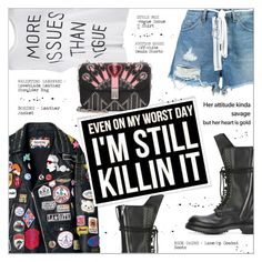 """""""KILLIN IT"""" by larissa-takahassi ❤ liked on Polyvore featuring Rick Owens, Off-White, Valentino, valentino, vogue, badass, RickOwens and savage"""