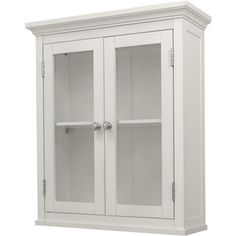 Classique White Wall Cabinet with Two Doors for the bathroom above the toilet