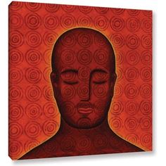 Gloria Rothrock Mind Circles Gallery-Wrapped Canvas, Size: 36 x 36, Red