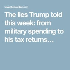 09.09.16 from military spending to his tax returns…