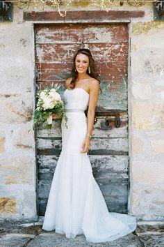 Strapless @mrslhuillier Wedding Dress   Photography by Leah   Brides.com