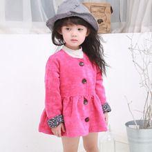 Áo khoác nhung bé gái thời trang, thiết kế kiểu dáng dễ thương