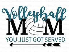 Volleyball Mom Design for Silhouette and other by TinyLoveTokens