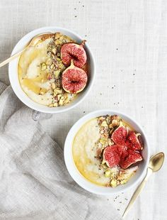 Roasted Fig & Honey Millett Porridge via Fig & Honey  - See more at: http://anthologymag.com/blog3/2015/03/27/recipe-roundup-breakfast-grains/#sthash.pIWljuOA.dpuf