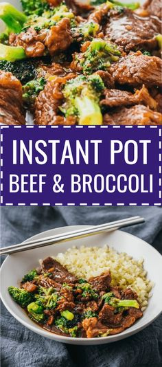 This Instant Pot Beef And Broccoli recipe uses pressure cooking to cook the beef and sauce -- easy, quick, and simple! It's gluten free, and also healthy if you use a sugar free sweetener for low carb / keto diets. I adapted my best authentic Chinese stir fry for the Instapot, and it's similar to Mongolian beef or Panda Express / PF Changs versions. The sauce is made using soy sauce (no cornstarch needed), and you can serve with any kind of rice. #lowcarb #keto #beef via @savory_tooth