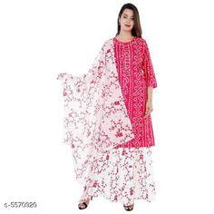 Dupatta Sets Women's Printed White Rayon Kurta Set with Skirt Kurta Fabric: Rayon Bottomwear Fabric: Rayon Fabric: Rayon Sleeve Length: Three-Quarter Sleeves Set Type: Kurta With Dupatta And Bottomwear Bottom Type: Skirt Pattern: Printed Multipack: Single Sizes:  XL (Bust Size: 42 in Kurta Length Size: 40.5 in Bottom Waist Size: 39 in Bottom Length Size: 38 in Dupatta Length size: 2.25 Mtr)  L (Bust Size: 40 in Kurta Length Size:  40.5 in Bottom Waist Size: 37 in Bottom Length Size: 38 in Dupatta Length size: 2.25 Mtr)  XXL (Bust Size: 44 in Kurta Length Size:  40.5 in Bottom Waist Size: 41 in Bottom Length Size: 38 in Dupatta Length size: 2.25 Mtr)  M (Bust Size: 38 in Kurta Length Size:  40.5 in Bottom Waist Size: 36 in Bottom Length Size: 38 in Dupatta Length size: 2.25 Mtr) Country of Origin: India Sizes Available: M, L, XL, XXL   Catalog Rating: ★4.1 (386)  Catalog Name: Women Rayon A-line Printed Skirt Dupatta Set CatalogID_833318 C74-SC1853 Code: 206-5570920-2751