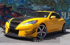 Hyundai Genesis Coupe With  Axis Shine Wheels by Element Wheels in Chandler AZ . Click to view more photos and mod info.