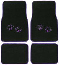 Purple Zebra Paw Print Car Floor Mat Carpet Auto Accessory