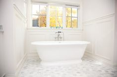 Traditional Bath Photos Master Bath Tile Floor Carrara Design, Pictures, Remodel, Decor and Ideas - page 2