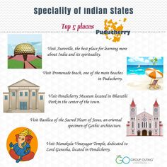 Top 5 #destinations you must visit while in #Puducherry #GroupOuting #GoGroupOuting