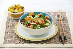 BBQ Chilli and Lime Prawns with Hokkien Noodle Salad - it looks as good as it tastes!