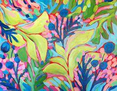 24x30 Print-Blueberry Leaves