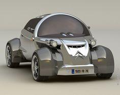 Futuristic Car: The Future Of Citroen 2CV Car