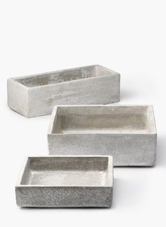 Square and Rectangular Cement Containers