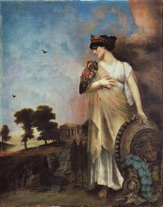 ATHENA Pre-Raphaelite Art; Contemporary Symbolist Art influenced by the Pre-Raphaelite Brotherhood in a variety of mixed media by Howard David Johnson.