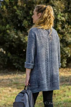 The cardigan is knitted top down. It is worked as one piece, seaming is required only to attach the inner part of the pockets to the front. Knit Cardigan Pattern, Sweater Knitting Patterns, Knit Patterns, Dress Gloves, Pulls, Knit Crochet, Free Crochet, Crochet Pattern, One Piece