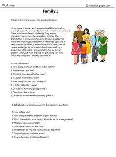 Family 3 worksheets