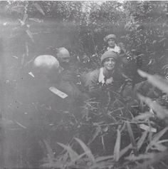 Tatiana and Maria playing with soldiers, 1916